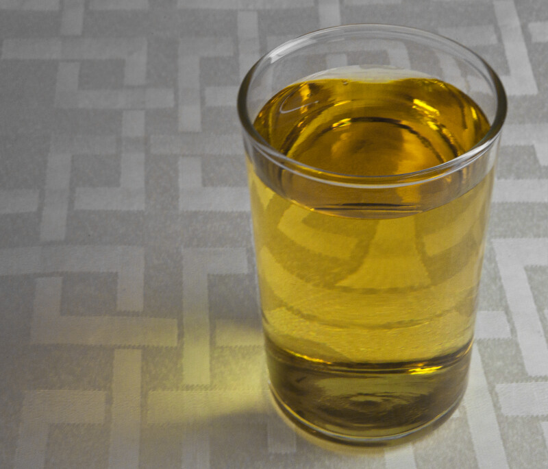 Glass of Apple Juice on Placemat