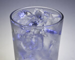 Glass of Ice Cubes with Blue Cast