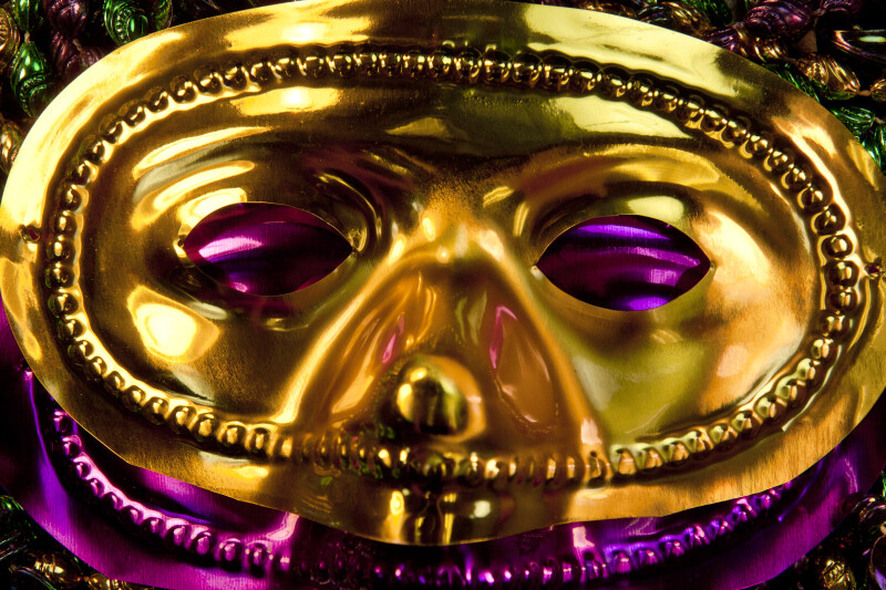 Gold Mardi Gras Mask