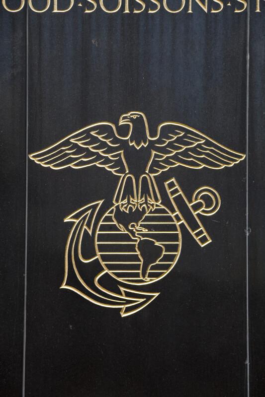 Golden Marine Corps Emblem