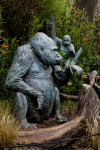 Gorilla and Young Statue