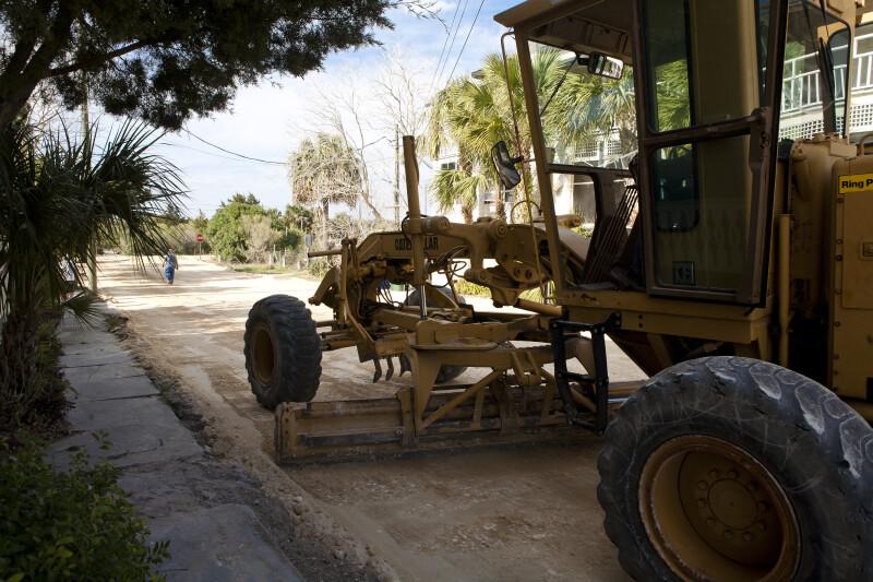 Grader Doing Road Work