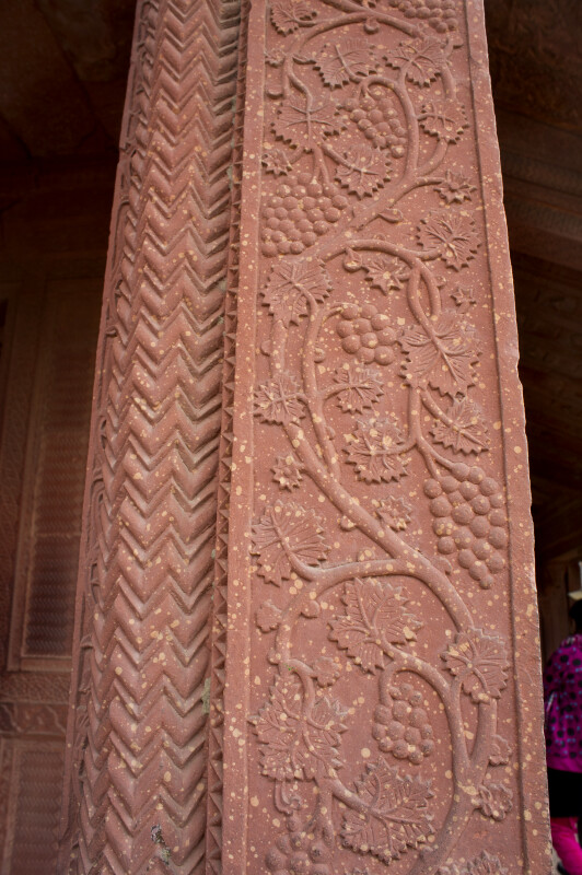 Grape Carvings in Red Sand Stone
