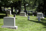 Grave Markers in Sunlight