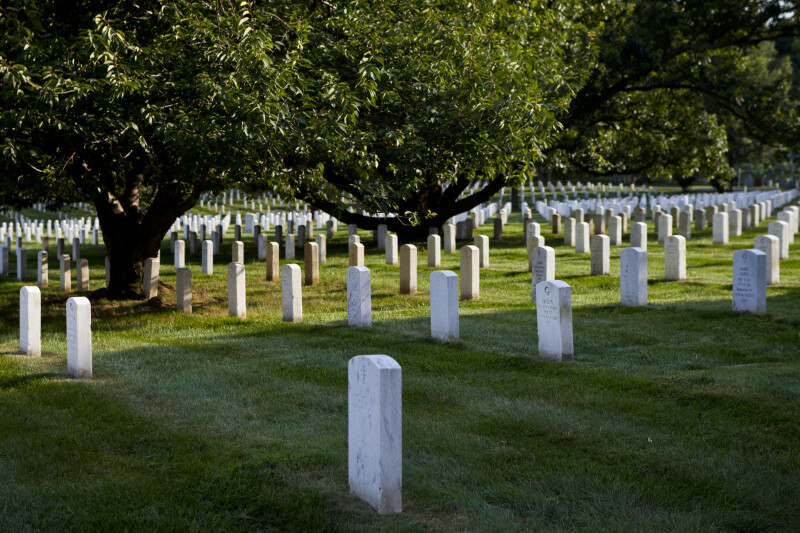 Grave Markers in the Shade