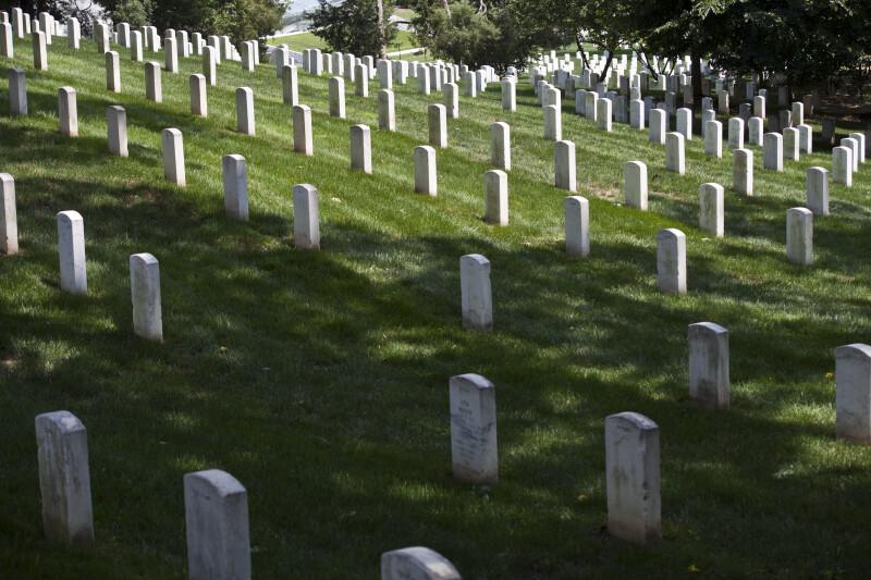 Grave Markers on Hillside