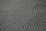 Gravel Combed in Lined and Wavy Patterns
