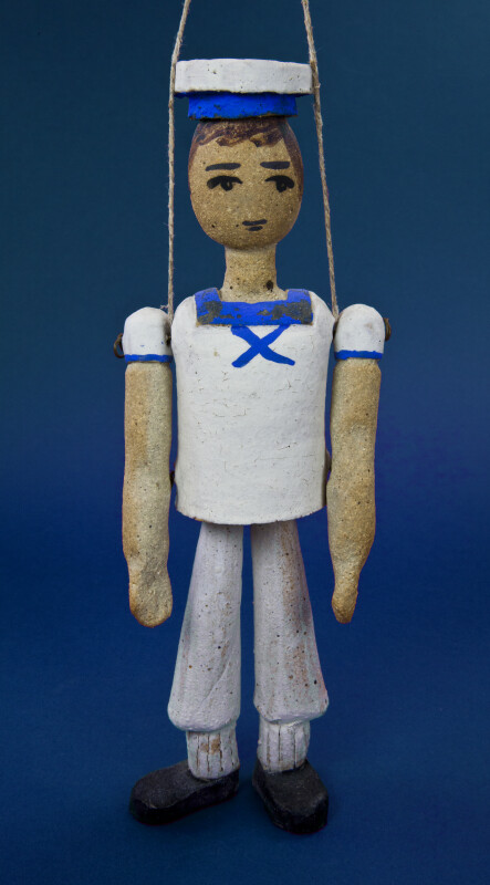 Greece Ceramic Figure of Sailor in Summer Uniform (Full View)