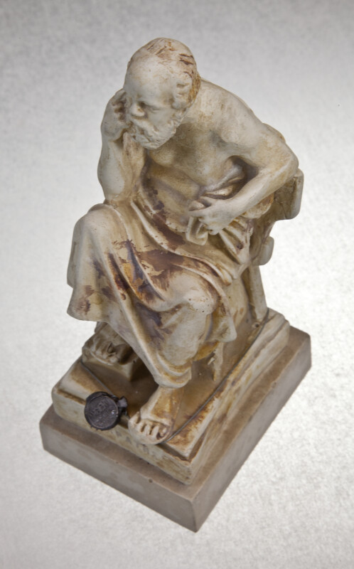 Greek Figure of Socrates with Toga (Three Quarter View)
