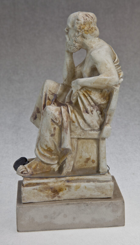 Greek Statue of Socrates Wearing Toga (Side View)