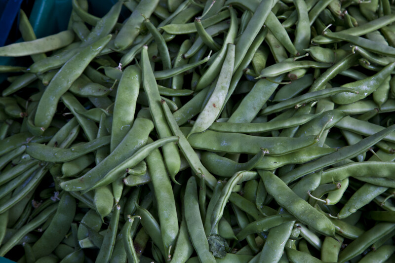 Green Beans at a Market in Ermoupoli, Syros, Greece