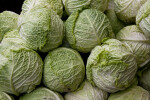 Green Cabbage Heads at Haymarket Square