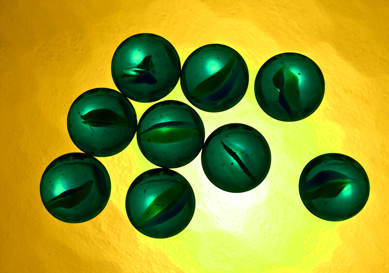Green Marble Counting, Nine