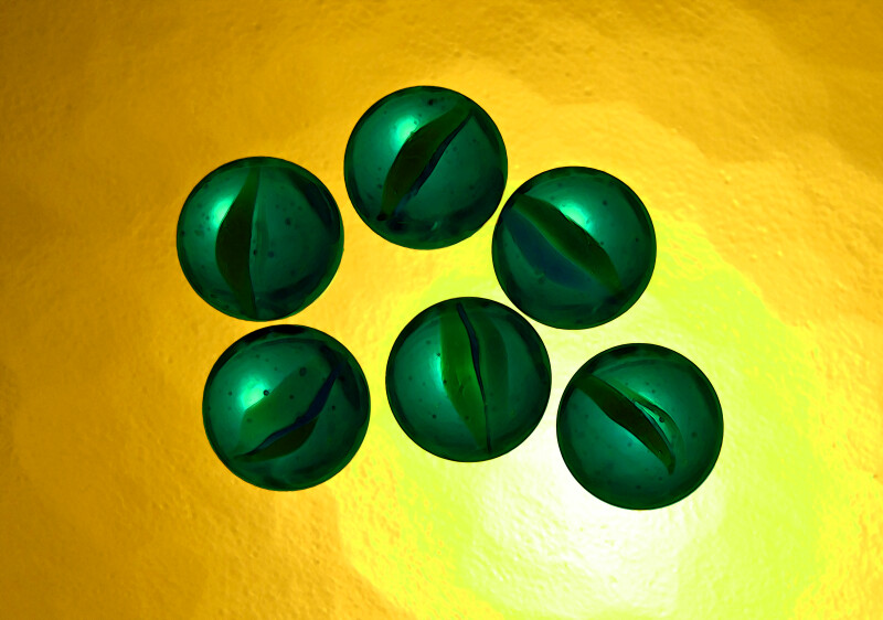 Green Marble Counting, Six