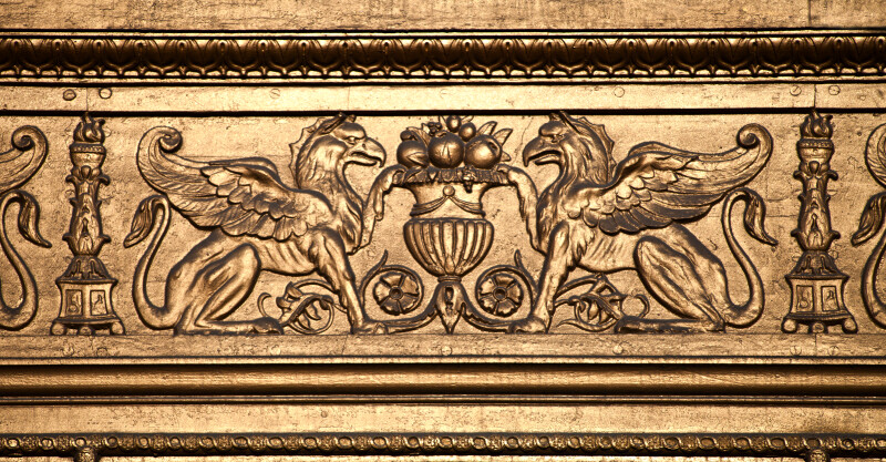 Griffins and Fruit-Filled Urns