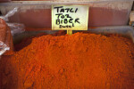 Ground Red Pepper at an Outdoor Market in Kusadasi