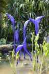 Group of Blown Glass Herons