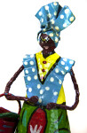 Guadeloupe Doll with Painted Face and Basket of Fruit (Close Up)