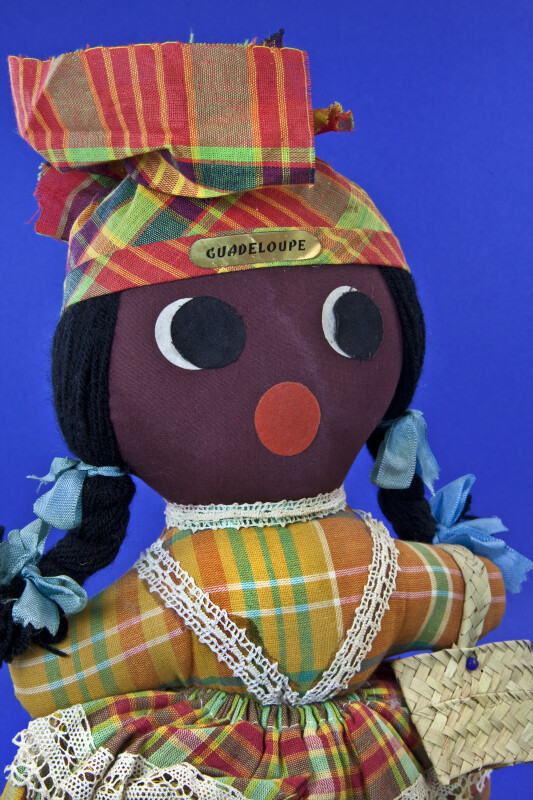 Guadeloupe Handcrafted Female Figure Made from Fabric (Close Up)