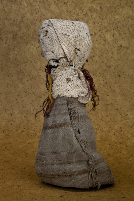 Guatemala Handcrafted Doll with Head Scarf and Long Dress (Back View)