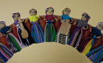 Guatemala Section of Worry Doll Wreath (Partial View)