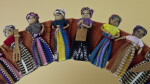 Guatemala Small Dolls in Worry Doll Wreath (Partial View)