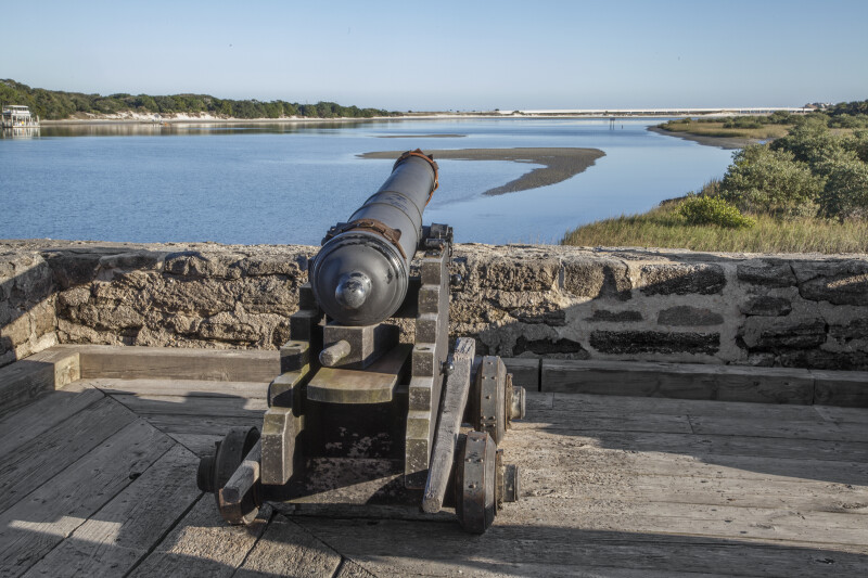 Gunner View of Matanzas Inlet and Cannon in the Light of Late Afternoon