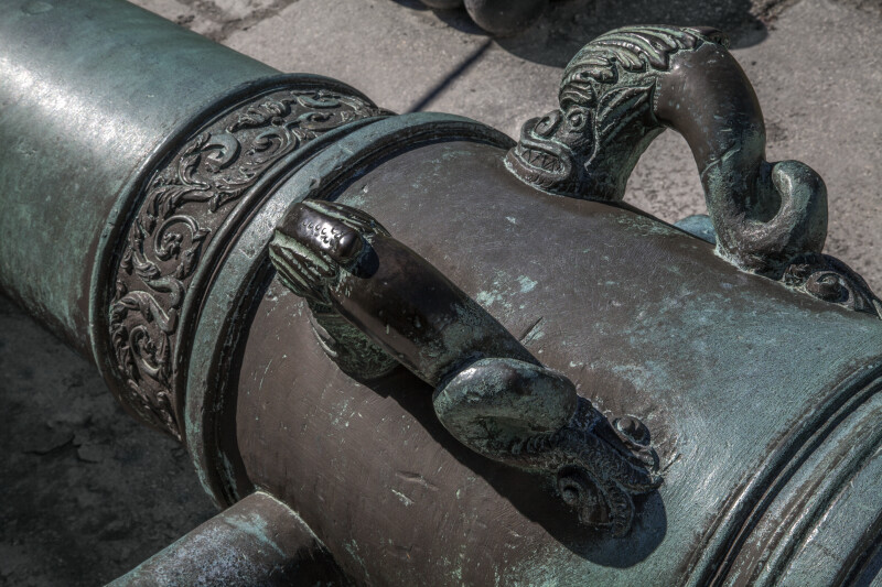 Handles of an Old Cannon Located at Castillo de San Marcos