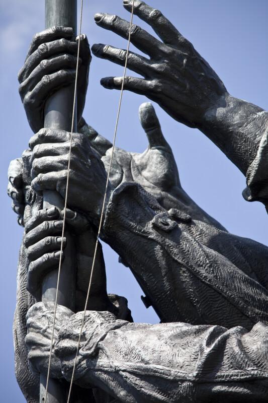 Hands on Flagpole