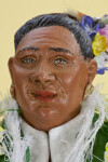 Hawaii Woman with Hand -painted, Wrinkled Face and Grey Hair (Close Up)