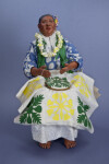 Hawaiian Figure of Mature Lady, Aunty Mary Makes a Quilt, by Patty Kanaar, Hei Mana Creations (Full View)
