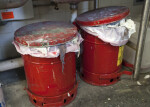 Hazardous Waste Containers in a Painting Studio
