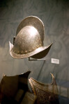 Helmet and Armor on Display at the Timucuan Preserve Visitor Center of Fort Caroline National Memorial
