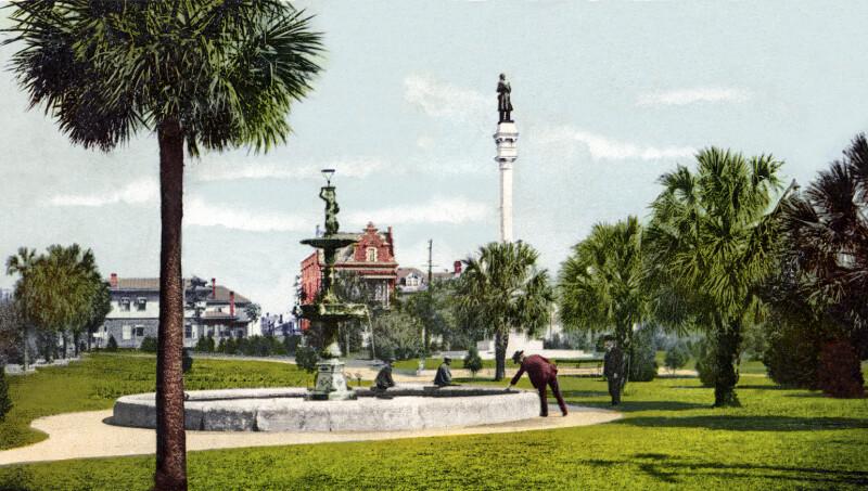 Hemming Park in Jacksonville, Florida