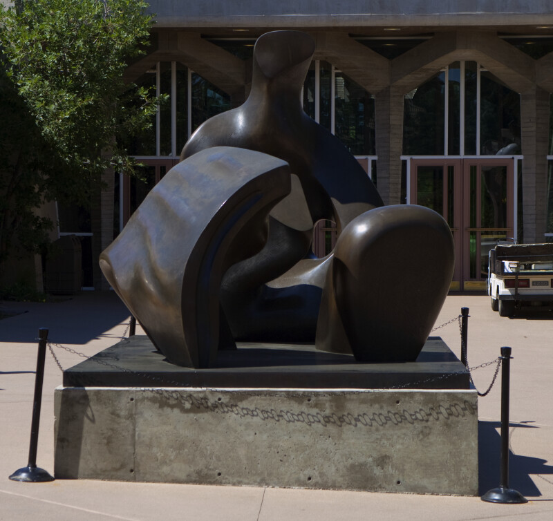 "Henry Moore's ""Three Piece Reclining Figure: Draped"""