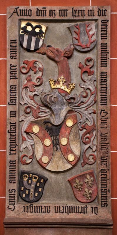 Heraldic Grave Slab