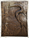 Herons or Egrets in Bronze