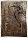 Herons or Egrets in Bronze