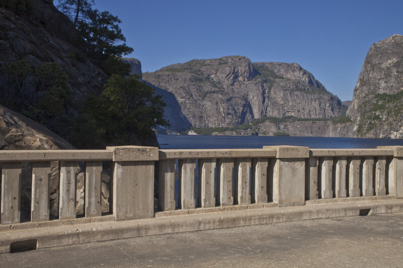 Hetch Hetchy Dome from the O'Shaughnessy Dam