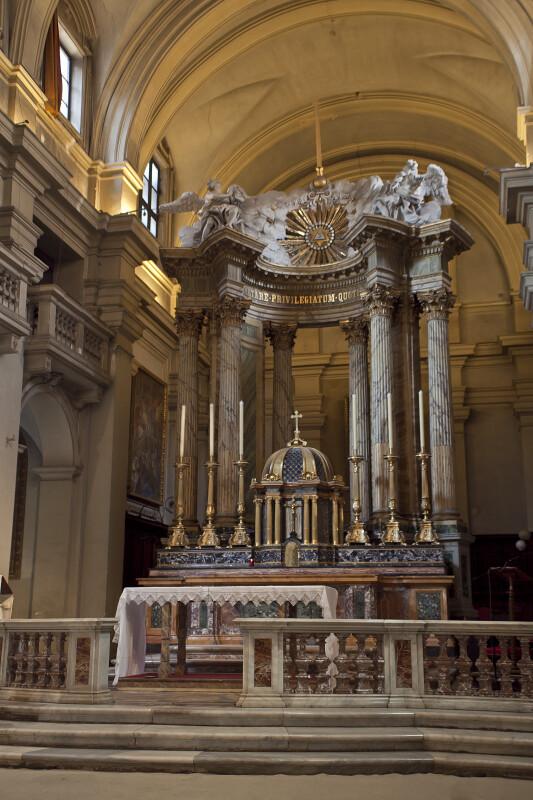High Altar of Roman Titular Church Santissima Trinita' dei Monti.