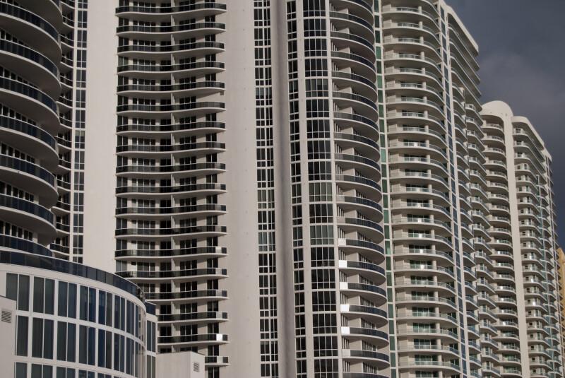 High-Rise Condominiums on Sunny Isles Beach