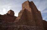 High Sandstone Walls at The Quarai Ruins