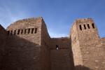 High Walls of the Spanish Church Ruins at Quarai