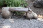 Hippopotamus Bench at the Sacramento Zoo