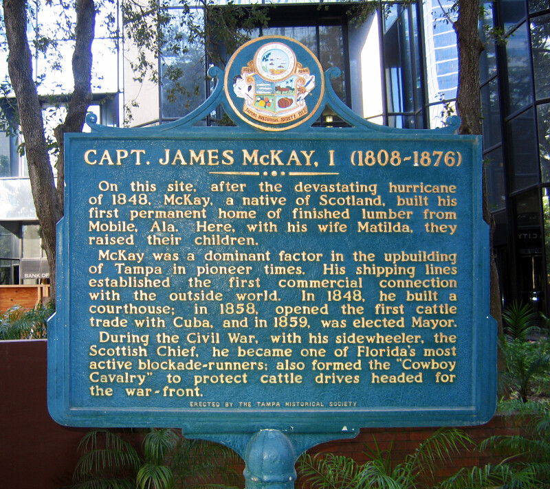 Historical Marker Dedicated to Capt. James McKay, I
