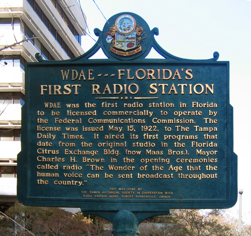 Historical Marker Dedicated to Florida's First Radio Station