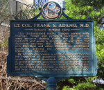 Historical Marker Dedicated to Lt. Col. Frank S. Adamo, M.D.