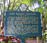 Historical Marker Dedicated to the Fort Brooke Cemetery