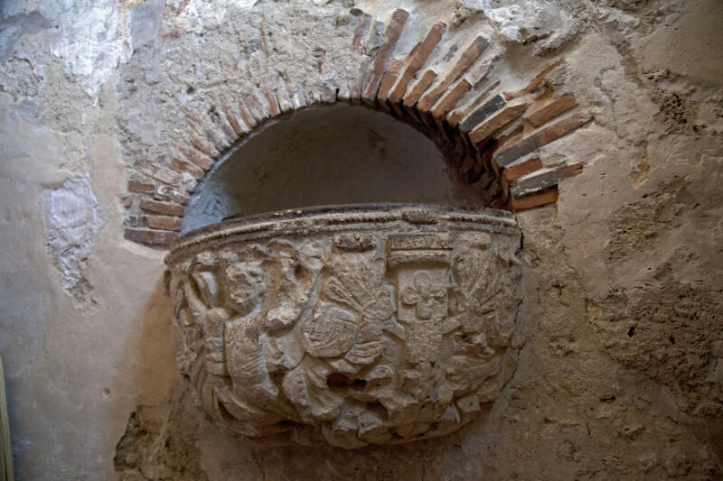 Holy Water Receptacle at Mission Concepción