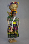 Honduras Female Doll Made from Fabric, Wire, and Tapa (Full View)